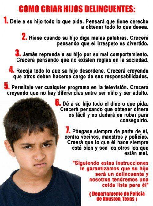 Ten cuidado en la forma en la que crias a tus hijos