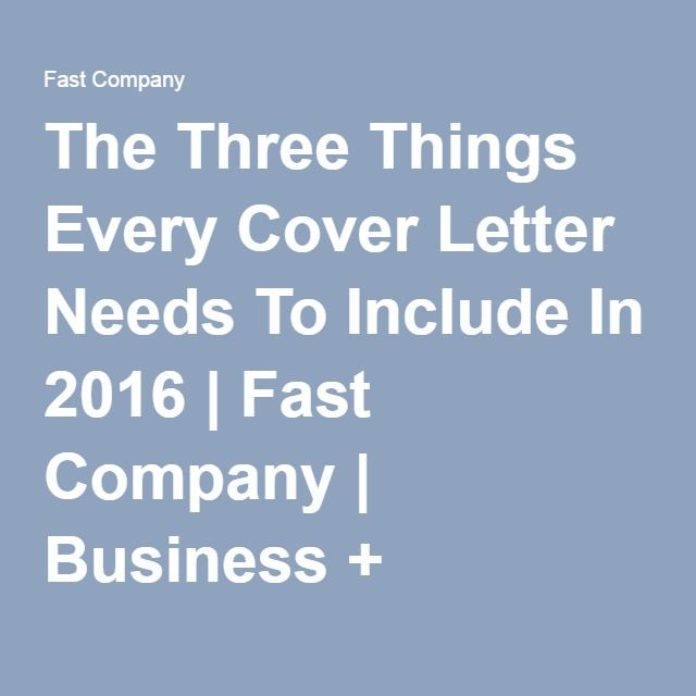 63 best work it images on pinterest career advice for What needs to be included in a cover letter