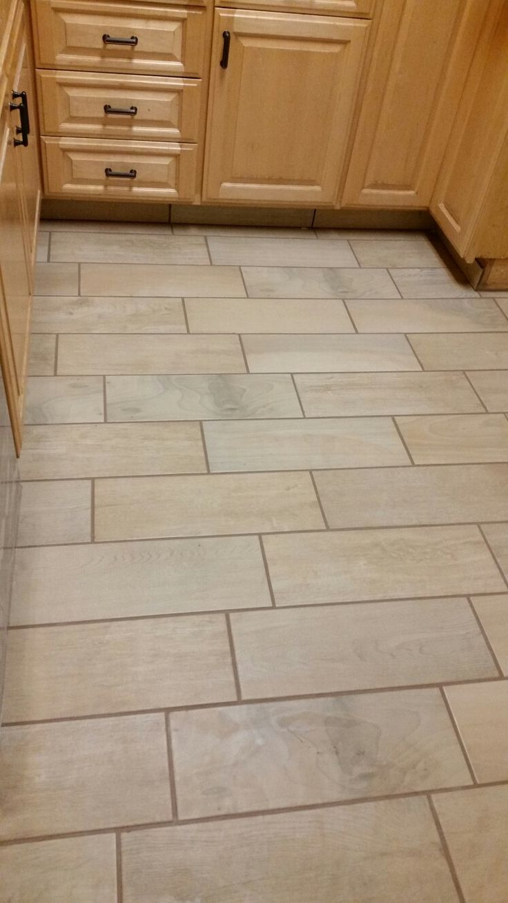 Parkwood Beige Wood Tile With Fusion Pro Earth Grout In