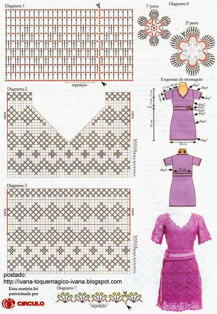 Узоры Вязания Платья