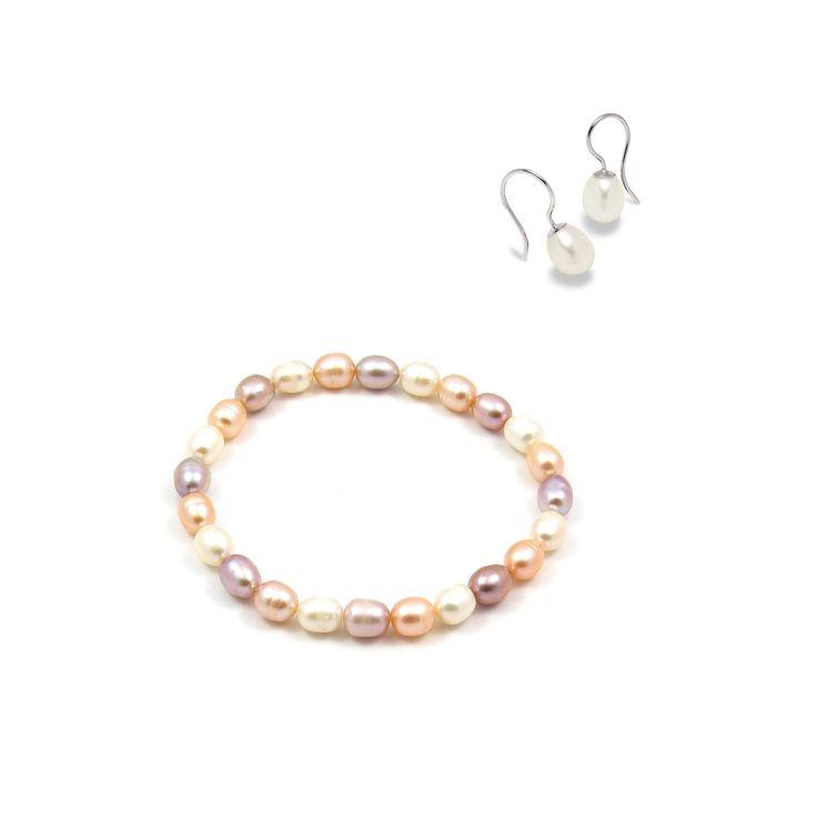 Set Valero Pearls și Sakura Pearl Picături de Rafinament (cercei, brățară)