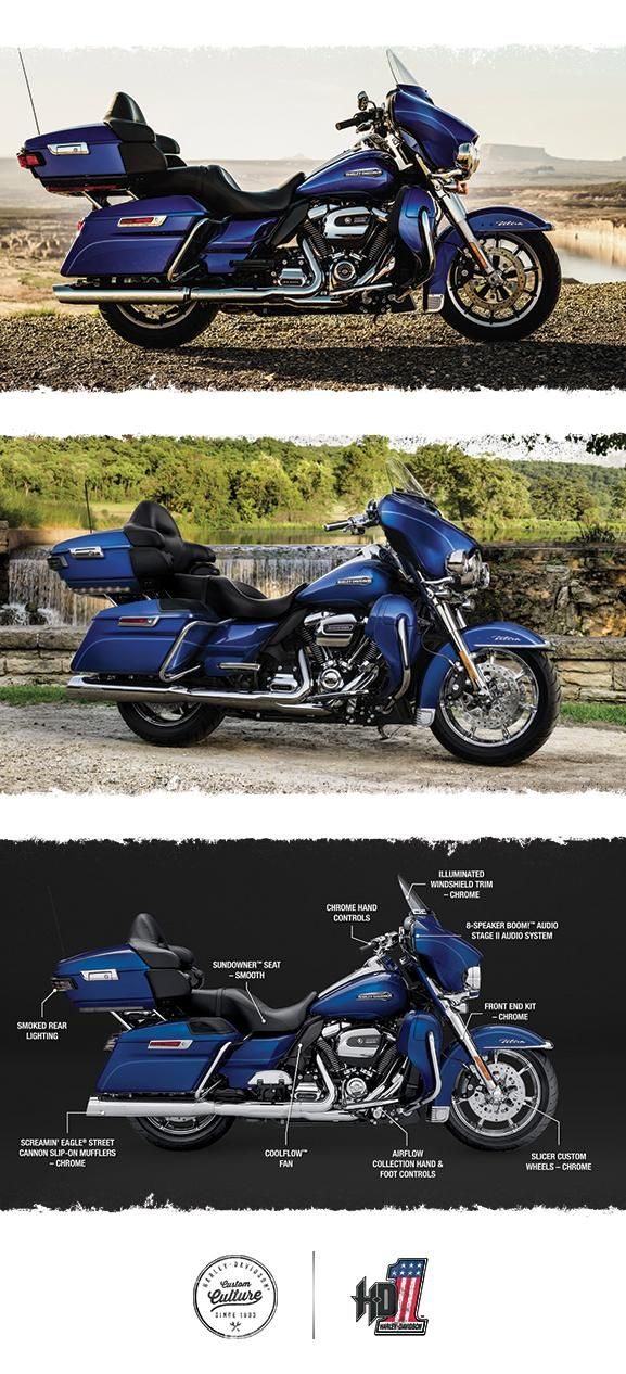Get in the two-up Electra Glide seat and there are absolutely no limits to how far you can go or how good it's all going to feel. | 2017 Harley-Davidson Electra Glide Ultra Classic