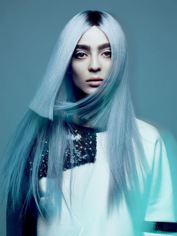 Blue-Tinged Hair Photography - Yulia Gorbachenko Captures the Work of NAHA Finalist Allen Ruiz (GALLERY)
