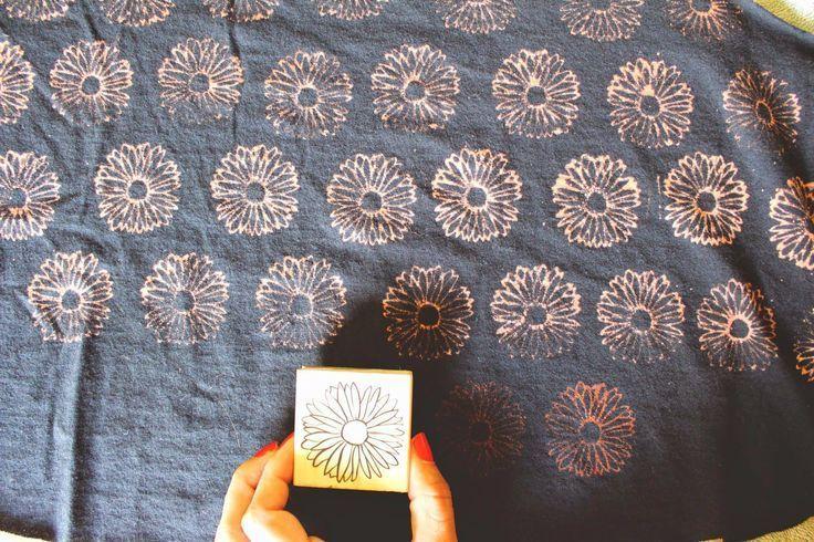 Bleach Stamp Pad DIY 7                                                                                                                                                                                 More