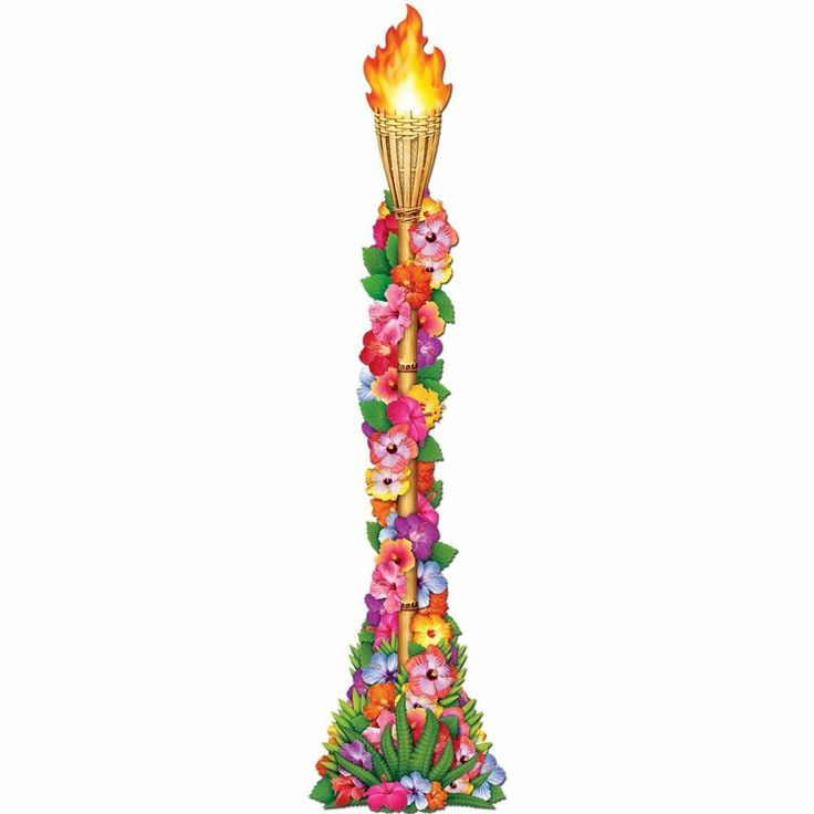 Jointed Tropical TIKI TORCH DECORATION LUAU Hawaiian Beach Party SHIPWRECKED