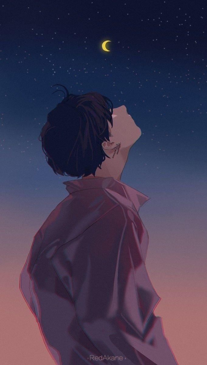 Anime alone boy wallpaper