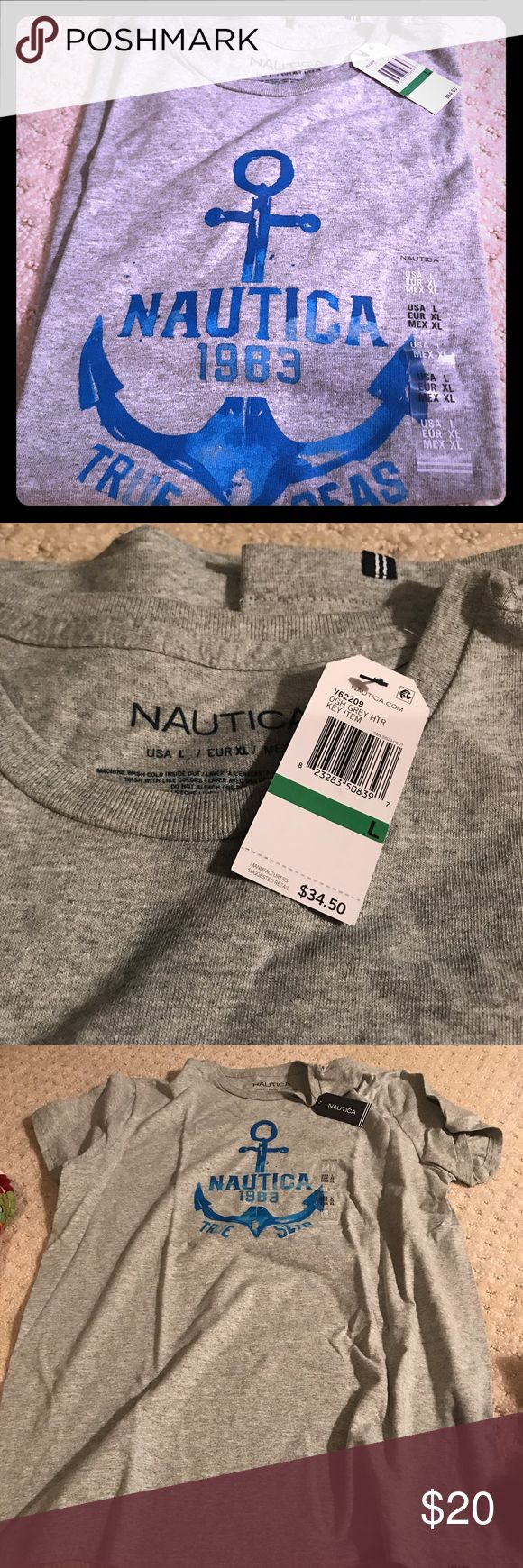 NWT Men's Nautical Tee size Large Brand new with the tags still on. Really nice quality as this brand always is! Grab it up!!! Nautica Shirts Tees - Short Sleeve