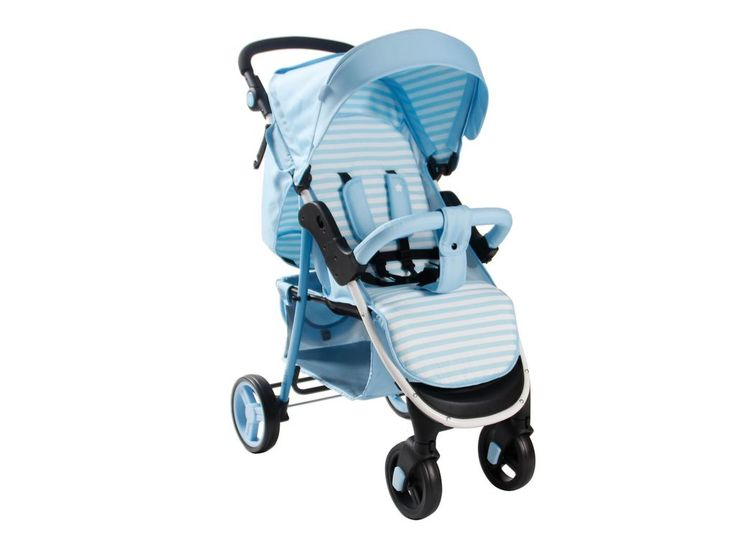 My Babiie MB30 Pushchair in Baby Blue Stripes