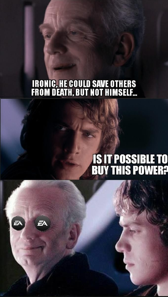 It Is Possible To By This Power Star Wars Battlefront Ii Unlockable Heroes Controversy Star Wars Battlefront Star Wars Memes Power Star