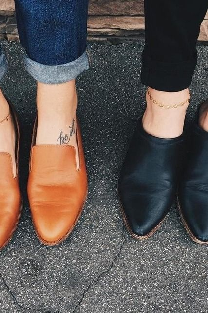 A nice pair of loafers or flat mules similar to these in black Barlow mule, Madewell | Pinterest: nasti