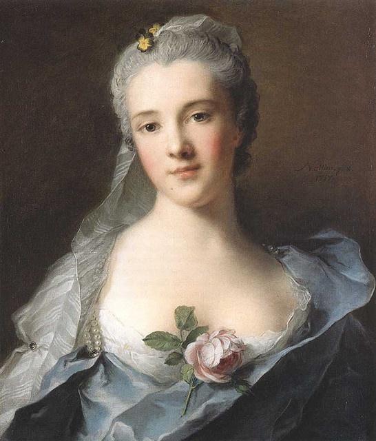 Portrait of Manon Balletti ,1757 by Jean-Marc Nattier (French 1685-1766)