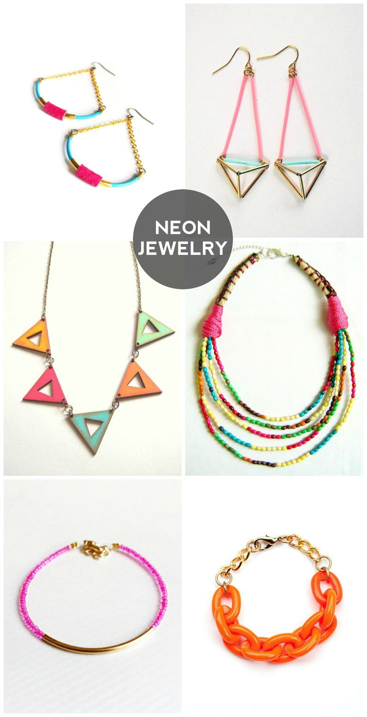 190 best neon & pastel jewelry images on pinterest | pastel