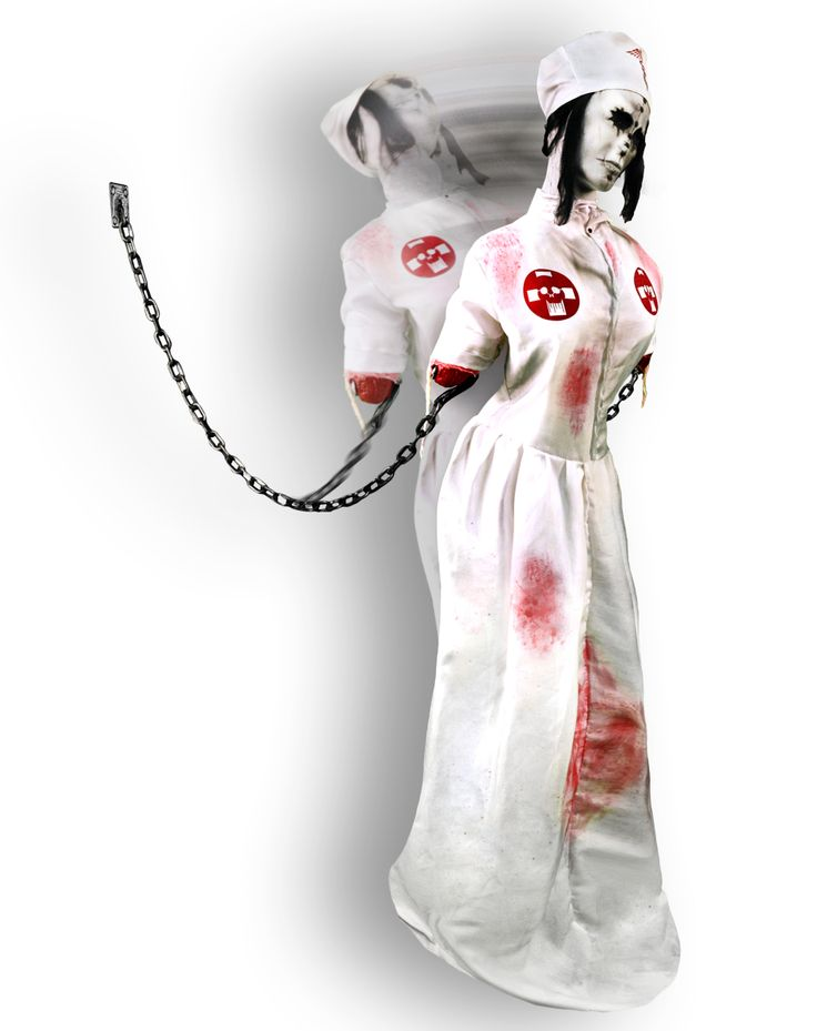 Convulsing nurse animated decoration spirit halloween for Animated halloween decoration
