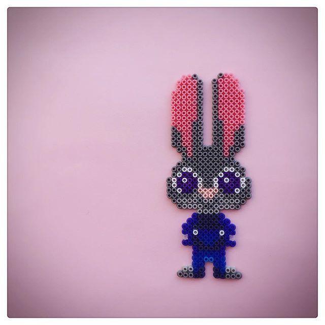 Officer Judy Hopps - Zootopia perler beads by season322 - Pattern: https://de.pinterest.com/pin/374291419012834634/
