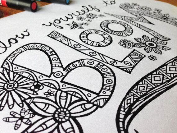 Coloring Pages Quotes For Adults : Best the birch and elm coloring pages images