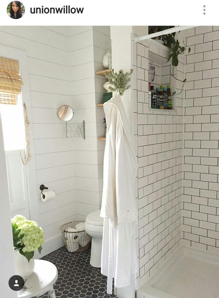 Shower,  toilet layout.  Shelving above toilet and shower cubby   – Bad-Ideen – …   – most beautiful shelves