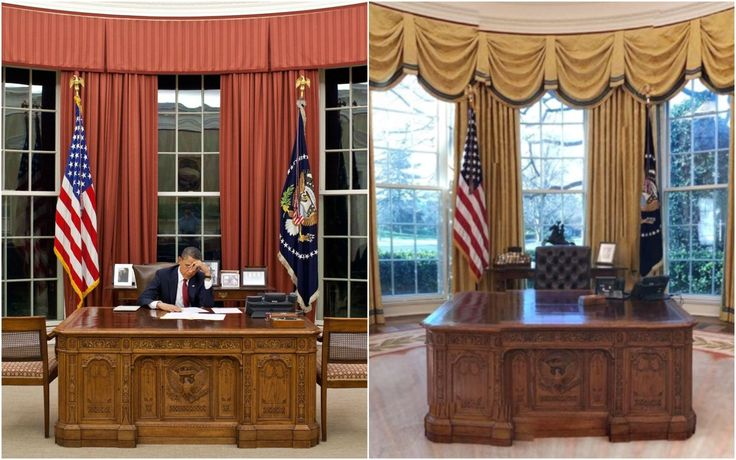 All the Ways Trump Has Redecorated the Oval Office to Make It His Own  - HouseBeautiful.com