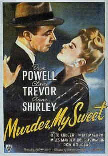 "Film Noir; Private Detective Philip Marlowe, ""an eagle scout among the tough guys. Murder, My Sweet (1944)"