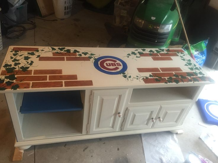 Chicago Cubs Dresser I Did For A Friend