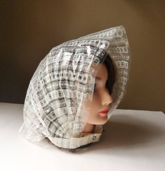 Folding Rain Bonnet with Pouch Jo-Do Specialty by MountainThyme1