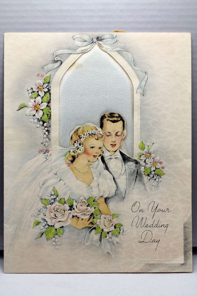 1940s Anniversary Greeting Card Couple Vintage Romantic or Rhenmatic Humor