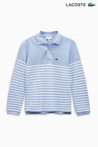 Buy Lacoste® Long Sleeved Stripe Polo from the Next UK online shop