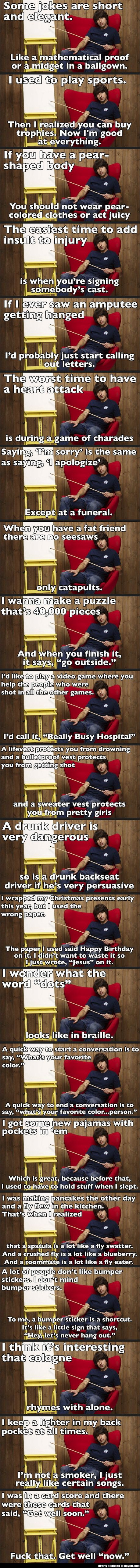 Demetri Martin Collection Sorry about the language its just so funny