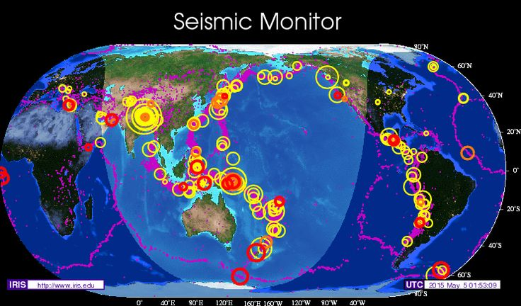 Seismic monitor recent earthquakes on a world map and much more seismic monitor recent earthquakes on a world map and much more science and climate pinterest gumiabroncs Images
