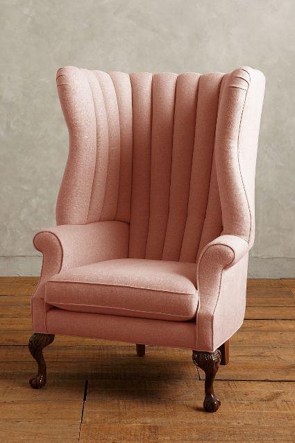 Linen English Fireside Chair - anthropologie.com #anthrofave