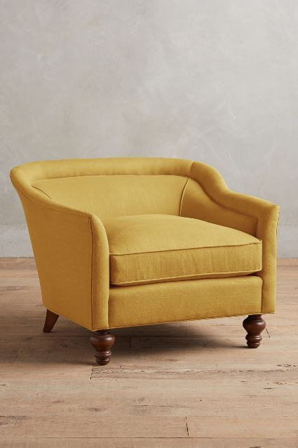 Linen Holloway Armchair #anthroregistry