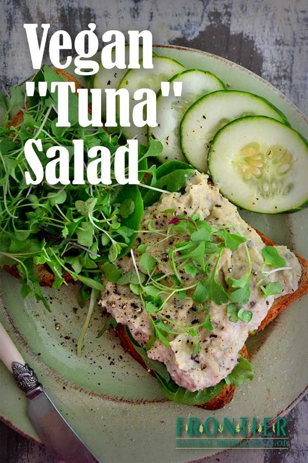 """This vegan """"tuna"""" salad recipe achieves a fishy flavor without any ..."""