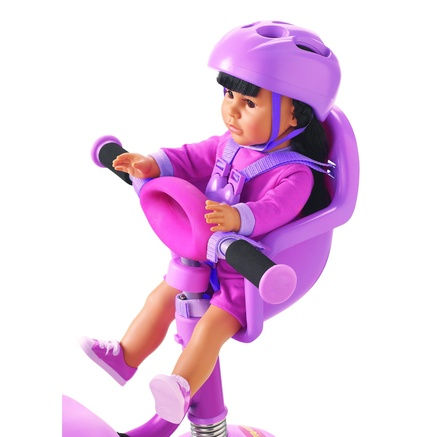 Lotus Onda 18'' Newberry Doll Bike Seat with Helmet and ...