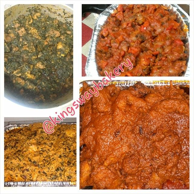 Just some of the soups and stews we prepare. You tell is what you want in it and we make it! #egusi #vegetable #soup #periperi
