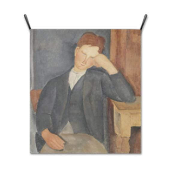 Wall Hanging Fabric Poster Cloth Printing Banner Tapestry Wall Decor Painting Artwork Le Jeune Apprenti by Amedeo Modigliani – GM84050