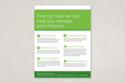 Financial Planning Services Flyer Template from Inkd #taxseason - workshop flyer template
