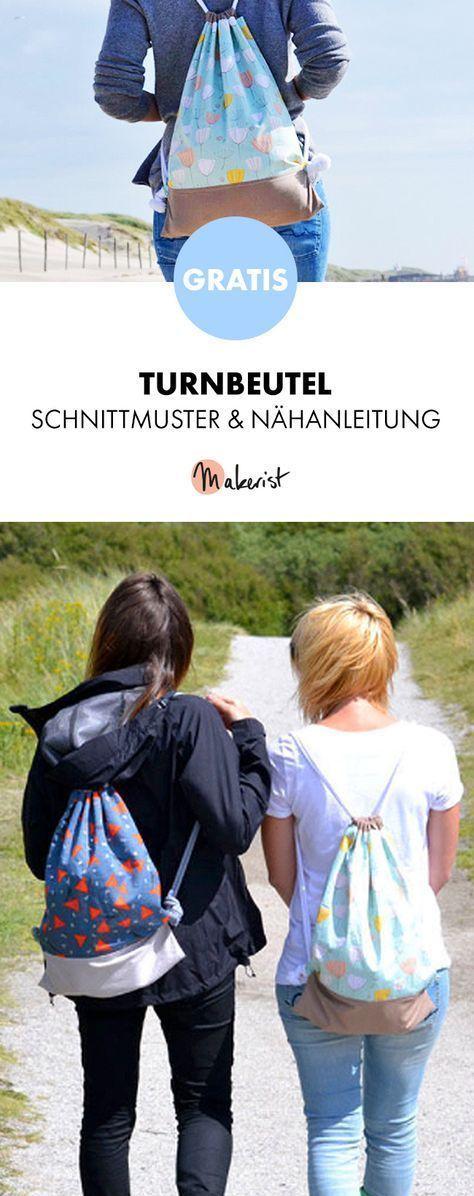 Gratis Anleitung: Turnbeutel nähen – Schnittmuste…