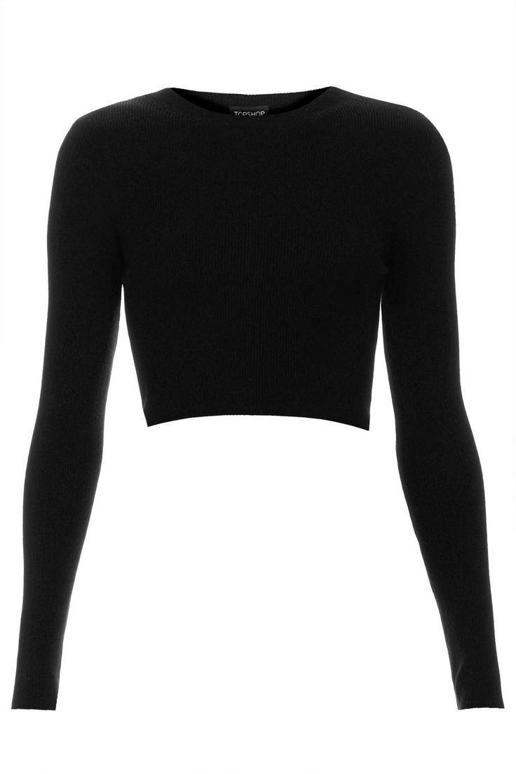 Rib Crop Top £26 Topshop - Long sleeve crops, to make me feel like a 90's spice girl this season #TOPSHOP #AW14 #WISHLIST