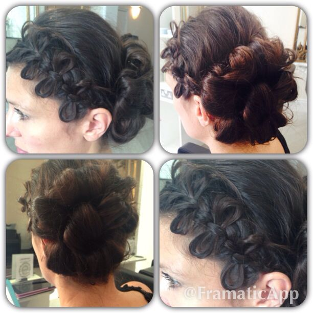 Bow plait pin up by Jodie