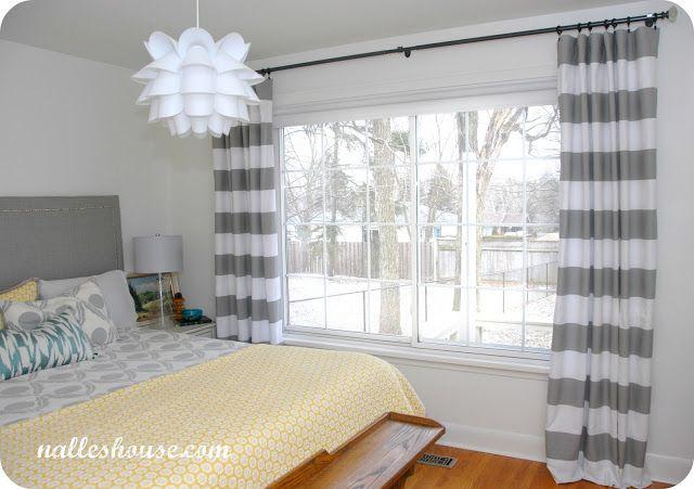 master bedroom progress - curtains