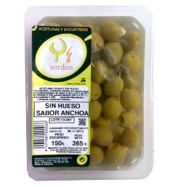 Aceitunas Sabor Anchoa sin Hueso Verdeo. www.entrecow.com