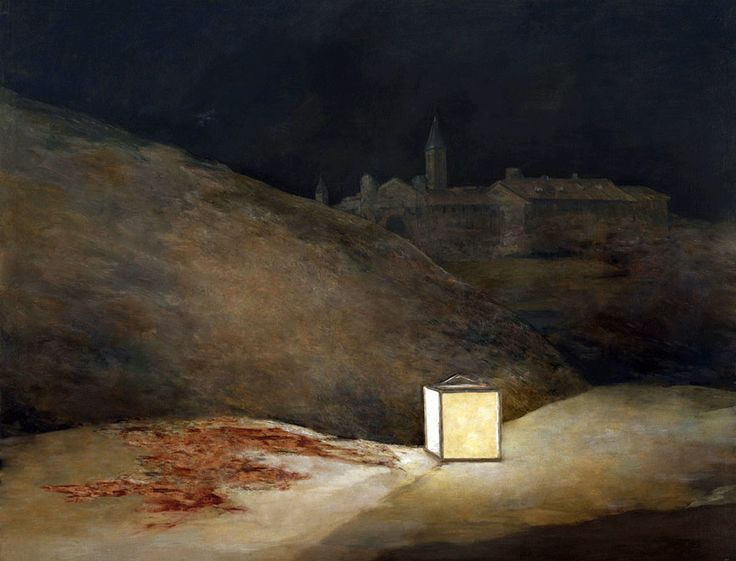 """José Manuel Ballester.  Part of his """"Espacios ocultos"""" (Hidden Spaces) series.  This one is what Goya's El tres de mayo de 1808 would look like without the people."""