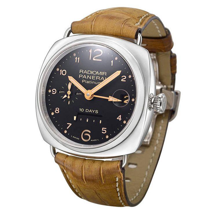 Panerai Platinum Radiomir 10-Days GMT PAM 495 Wristwatch with Date