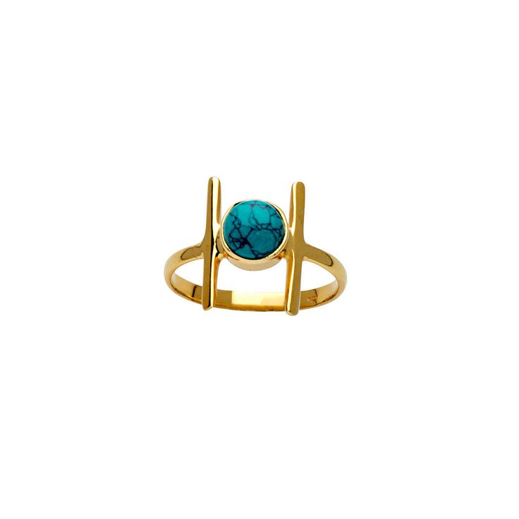 Alita Ring / Turquoise from D A M S E L F L Y