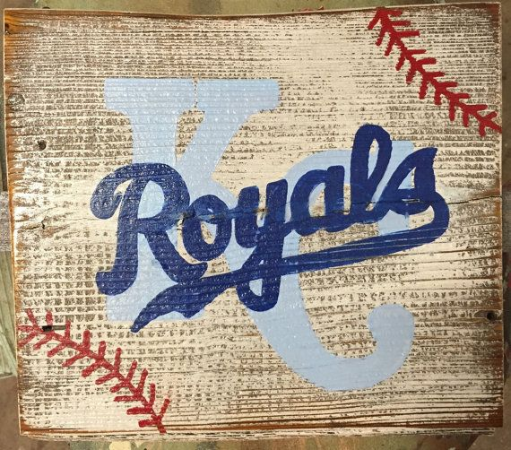 Kansas City Royals Barn Wood sign world by ASmidgeofCharacter