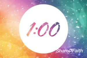 Countdown to the Easter service begins with this colorful and active religious one-minute countdown timer. #Sharefaith #Easter #EasterMedia #Faith #ResurrectionSunday #ChristIsRisen #ChurchMedia #Countdown