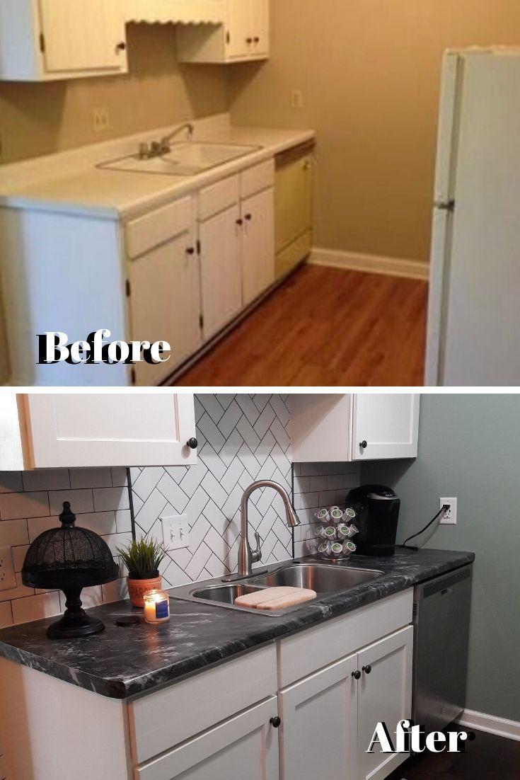Kitchen Renovation Before After On A Budget Kitchen Design Small Kitchen Remodel Small Kitchen Island Design