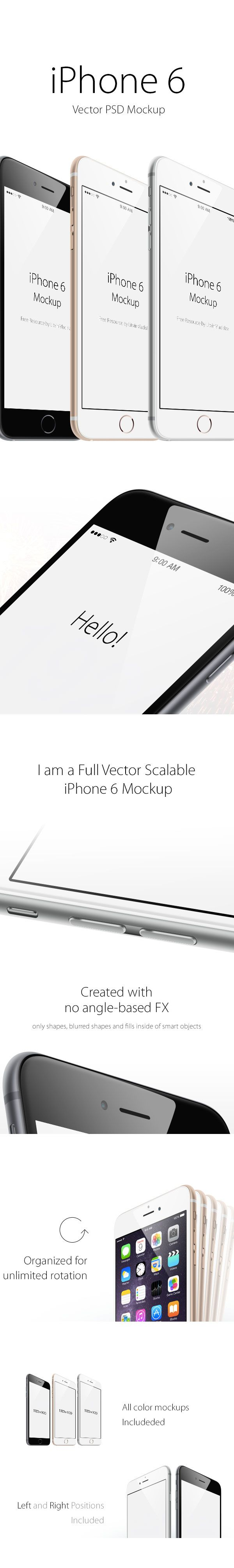 Very quickly!, This is a free PSD Set of iPhone 6 Mockup from angled view. iPhone 6 Mockup Package was designed by Vlad Litvin