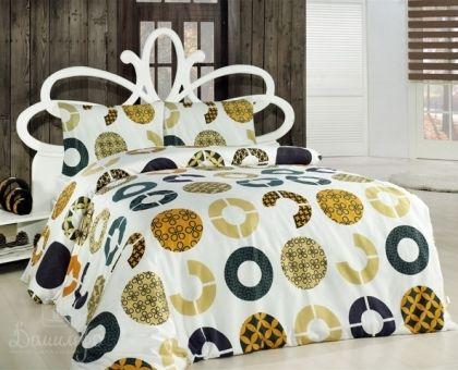 Купить постельное белье ALTINBASAK MIA желтое 70х70 1,5-сп от производителя Altinbasak (Турция)