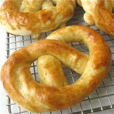 Hot buttered pretzels recipe