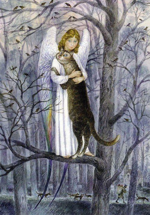 Painting cats Vladimir Rumyantsev. Kind angel